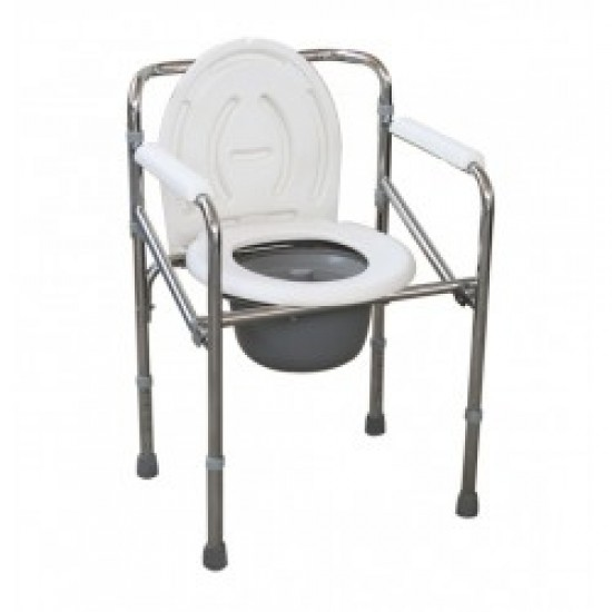 Foldable Height Adjustable Commode Chair 894